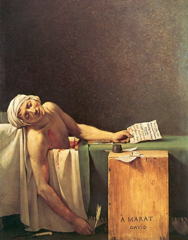 A morte de Marat, de Jacques-Louis David