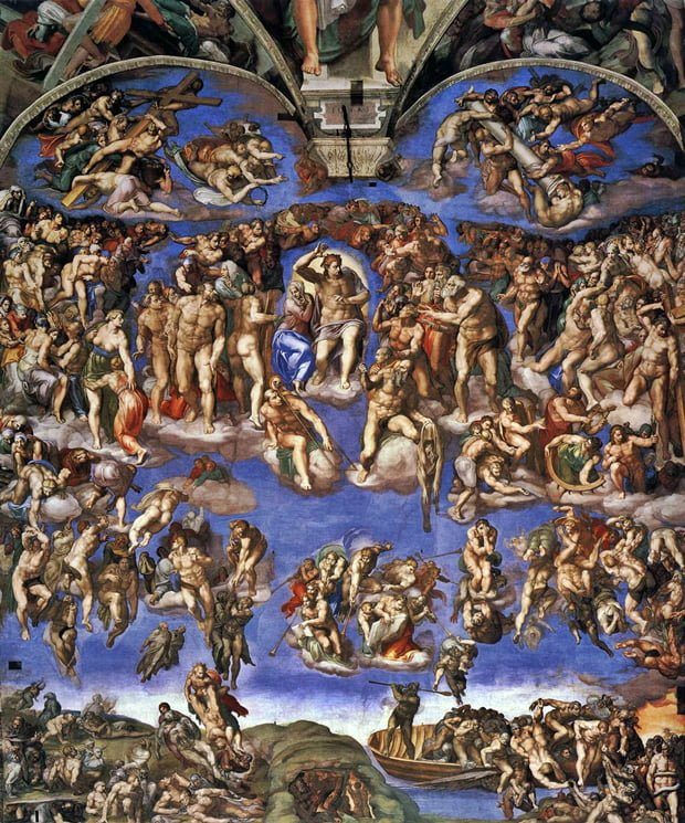 O juízo final, de Michelangelo