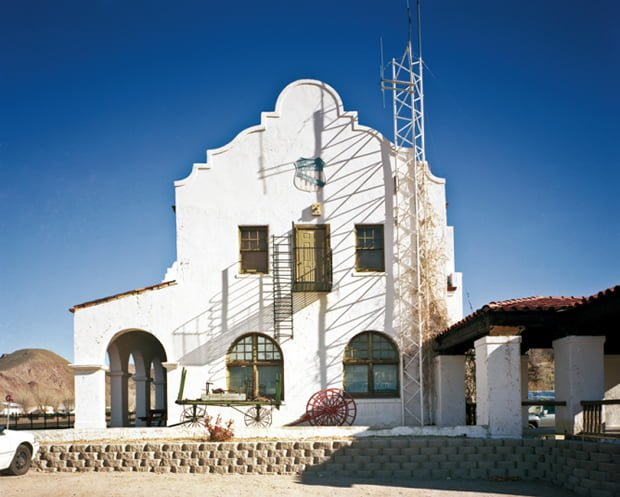 Caliente Branch Library in former Union Pacific railroad station, Caliente, Nevada