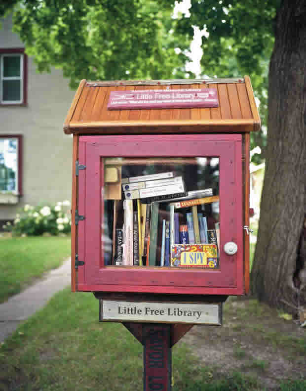 Richard F. Boi Memorial Library, First Little Free Library, Hudson, Wisconsin