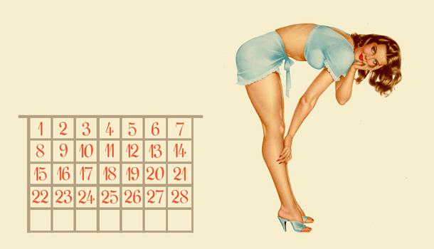 Não é nada fácil ser mulher-calendário