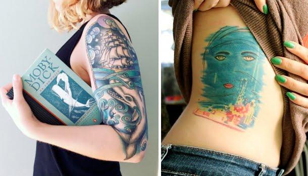 20 tatuagens para apaixonados por livros