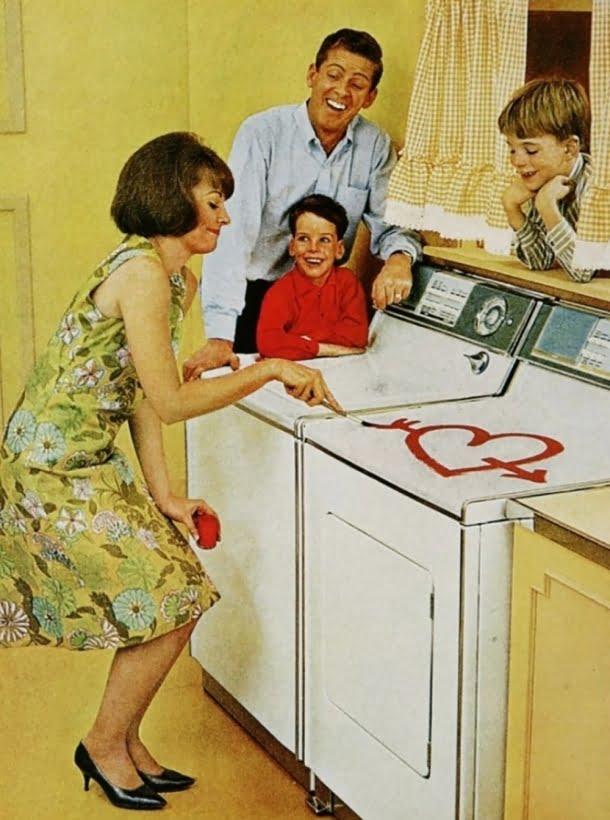 Uma máquina de lavar era o presente perfeito para o Dia dos Namorados