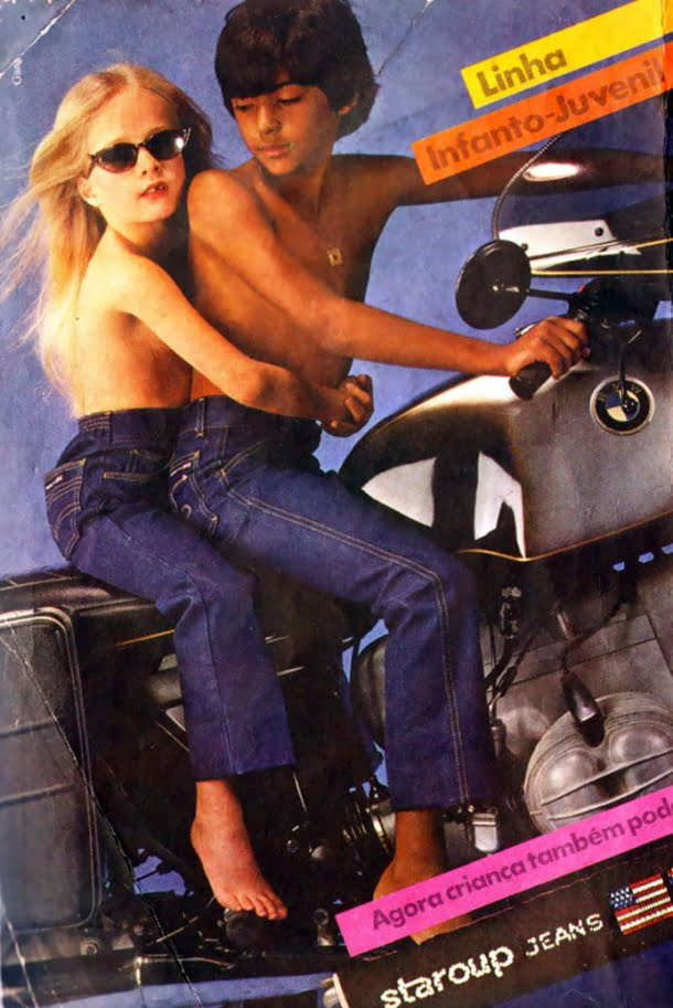 Esta campanha usou crianças seminuas para vender calças jeans
