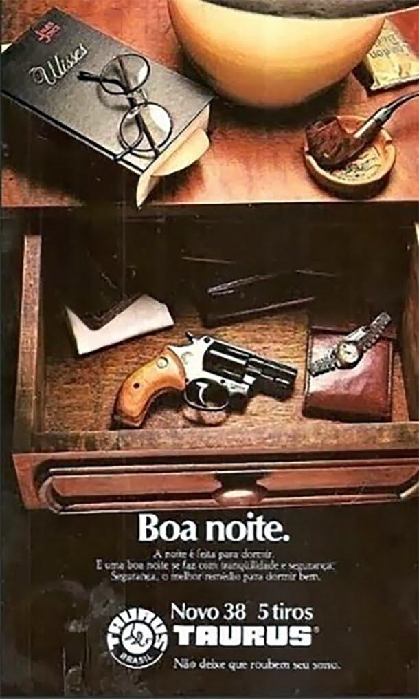 Não deixe que roubem seu sono, diz esta propaganda de armas
