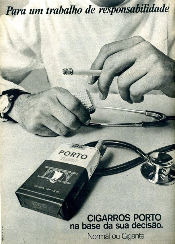 Uma propaganda de cigarro totalmente voltada para os médicos