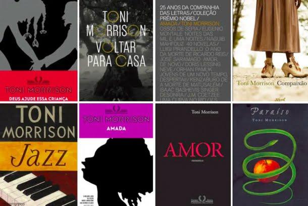 Lista com os livros de Toni Morrison disponíveis no Brasil