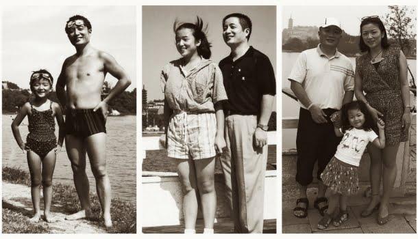 Pai e filha repetem a mesma fotografia por 40 anos, de 1980 a 2019