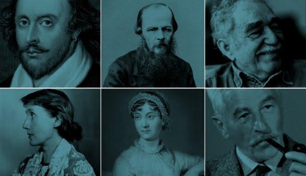 Os 15 maiores escritores de todos os tempos